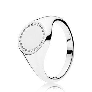 🍓Pandora Circle Signet Ring
